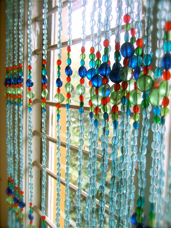 Moroccan Blue Bead Curtain Memories Of A Butterfly