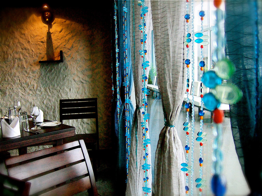 Moroccan Blue Bead Curtain