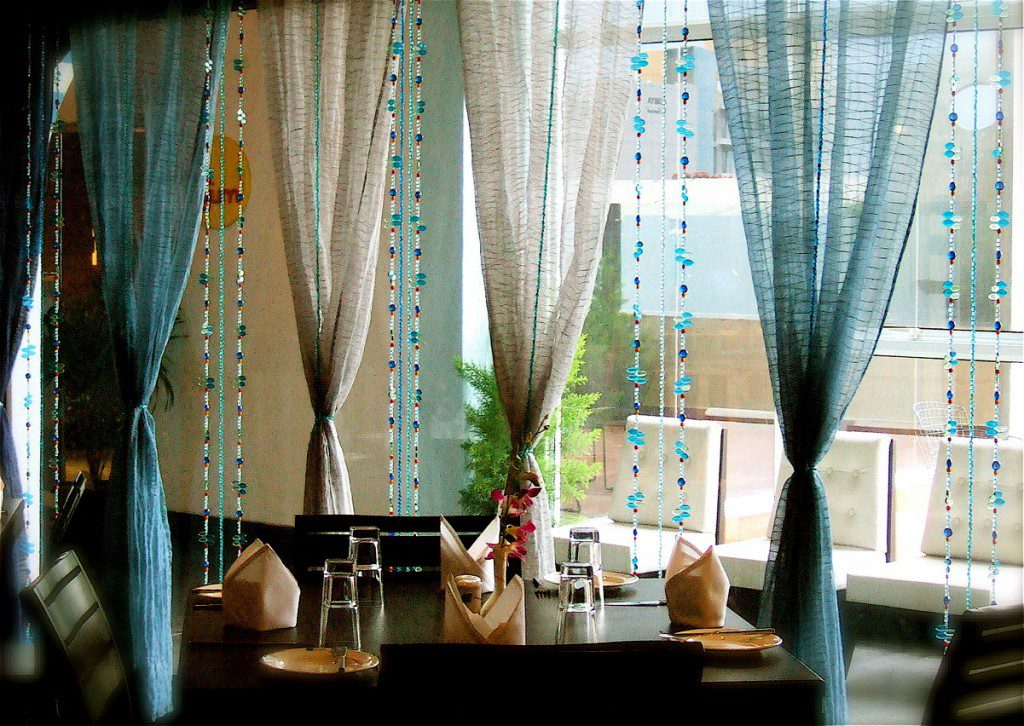 Moroccan blue bead curtain memories of a butterfly buy for Where to buy drapery