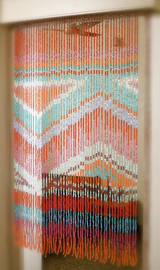 aztek beaded curtain