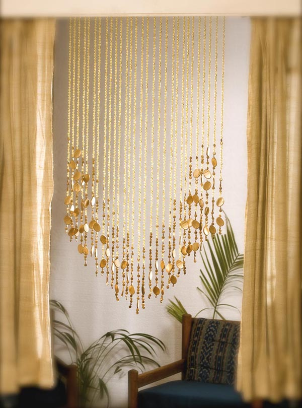 Gold basket bead curtain memories of a butterfly buy beaded curtain