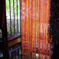 Champagne Red Acrylic Crystal Bead Curtain