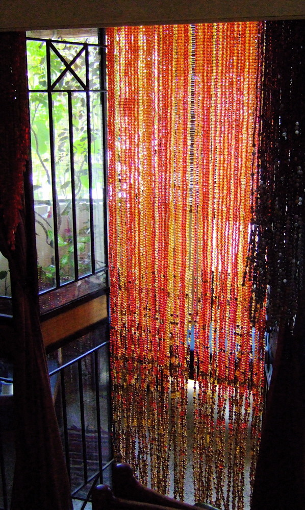 Beaded curtains for doorways
