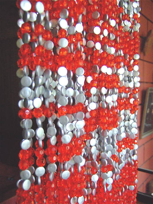 Red Silver Acrylic Crystal