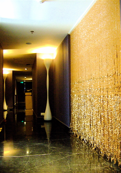 Room Divider, Separator | Champagne Gold Acrylic Crystal