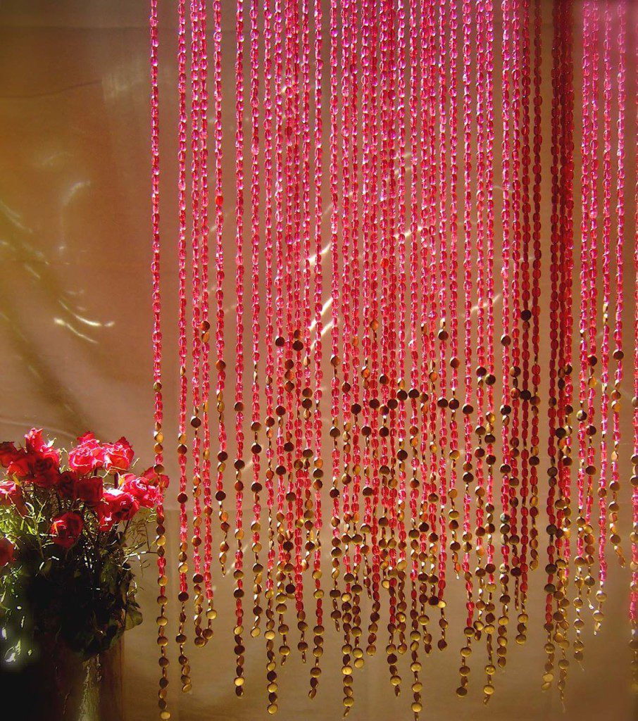 pomegranate gold beaded curtain