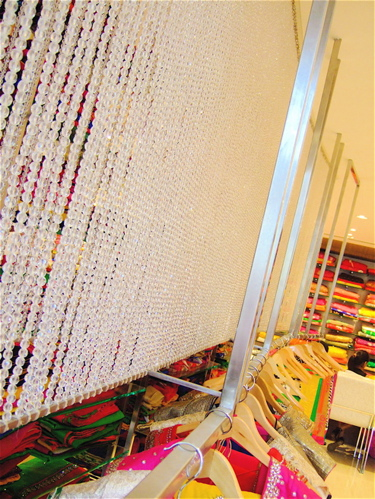 visual merchandising bead curtain