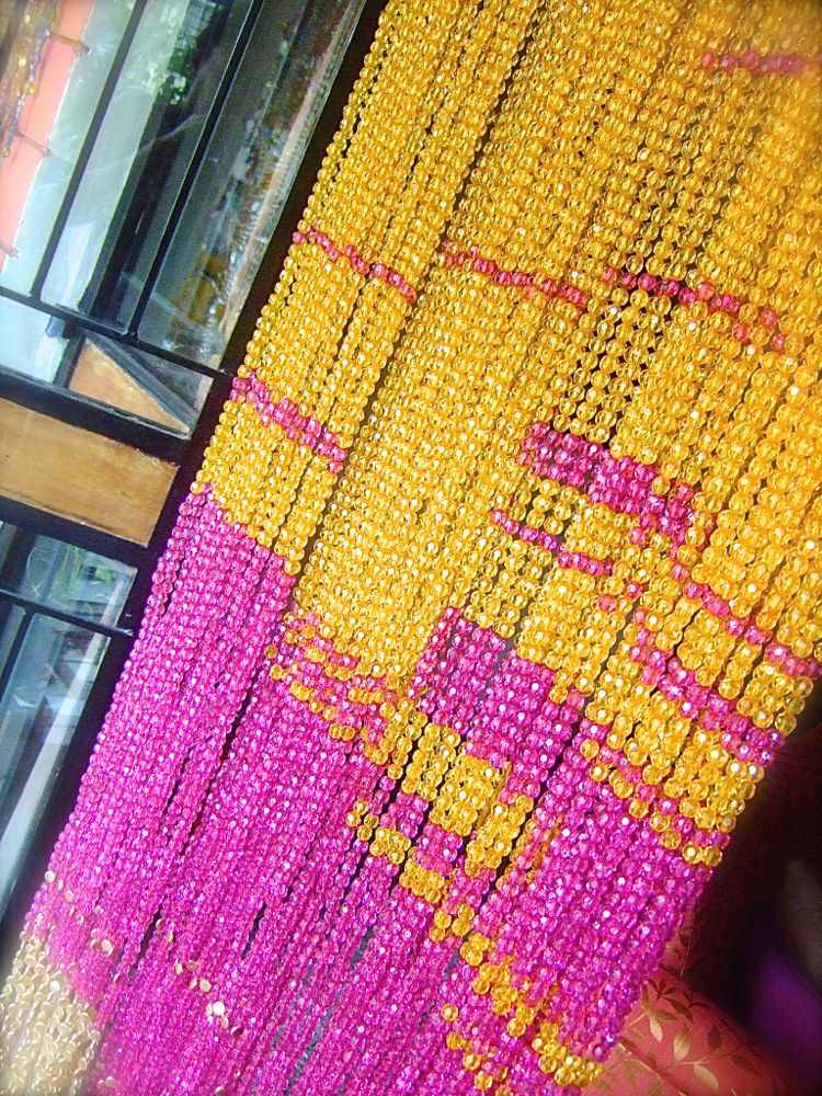 crystal colored bead curtain