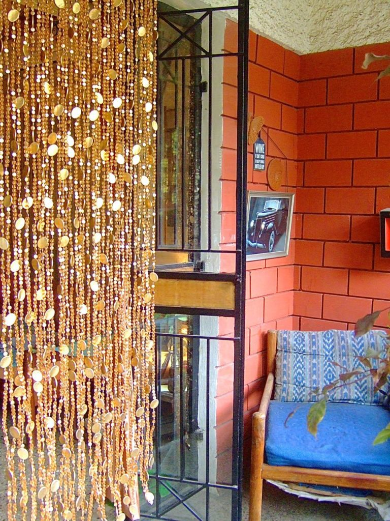 gold crystal bead curtain