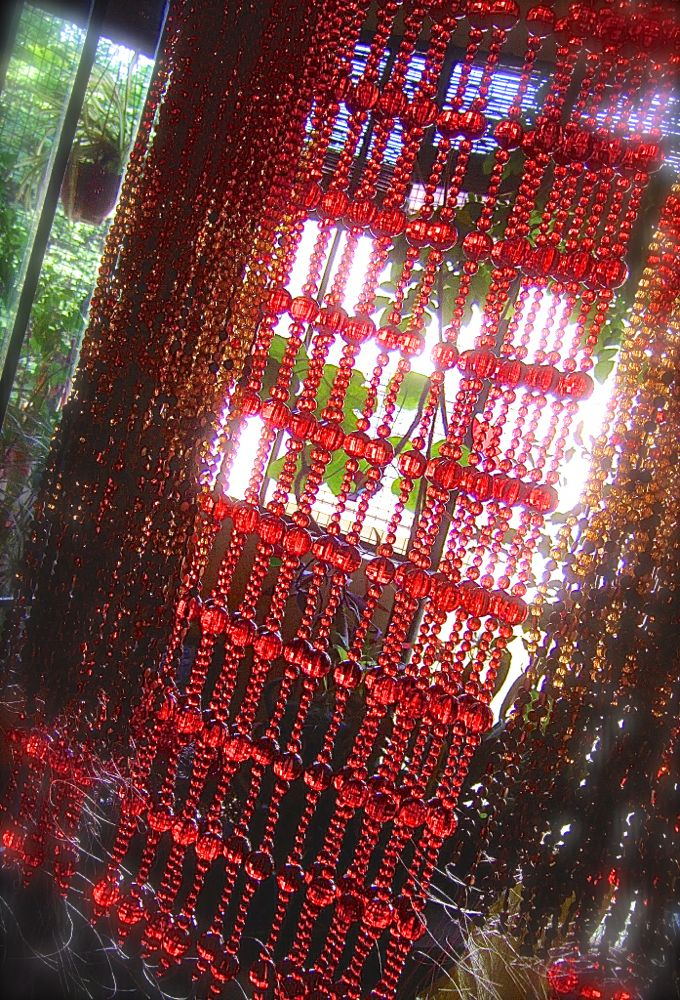 beautiful Red crystal Bead curtain