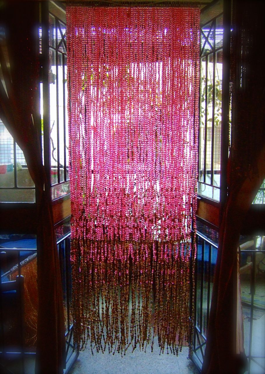 Room Partitions Pomegranate Pink Acrylic Crystal Gold