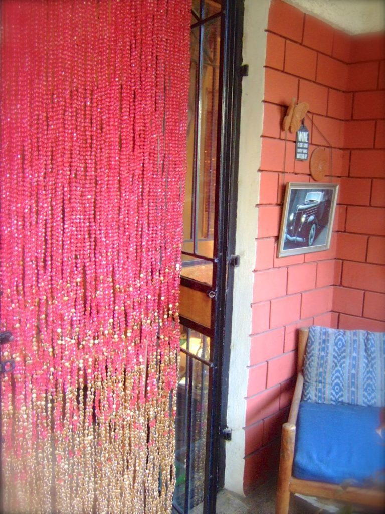 buy pomegranate gold beaded curtain