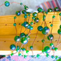 NEW Copper Wire Glass Bead String Bead Curtain