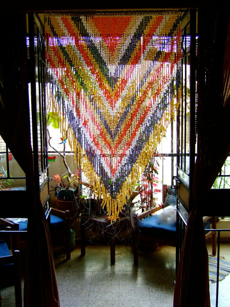 buy acrylic crystal colorful beaded curtain