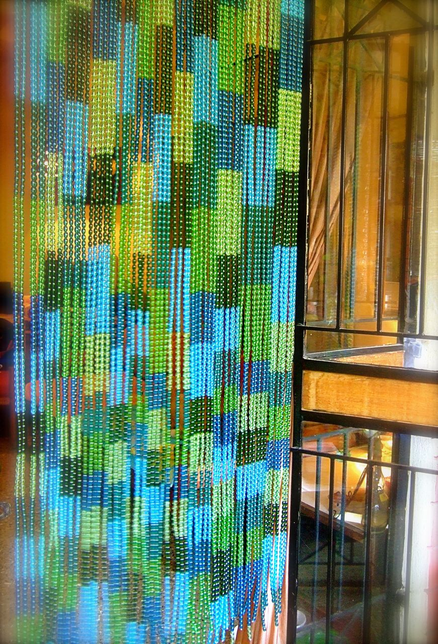 Bluegreen mosaic factory glass beaded curtain ready for Where to buy drapery