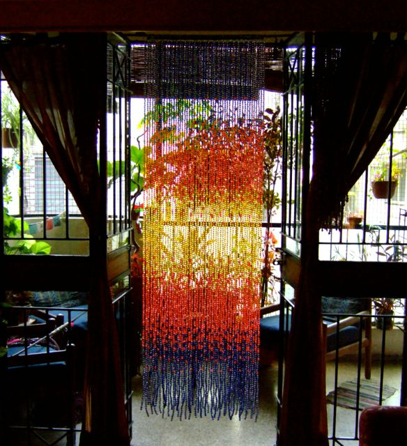 acrylic crystal hanging sculpture bead curtain