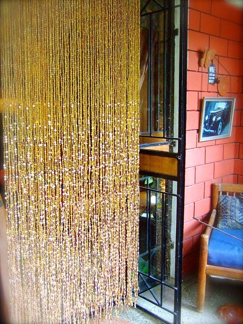 Champagne Handmade Glass Gold Hanging Sculpture Ready Made