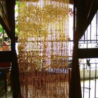 Champagne 'Handmade Glass' Gold Hanging Sculpture / 'Ready-Made Collection'