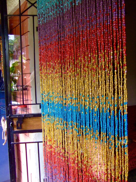 Multicolored Ombre Handmade Glass Beaded Curtain Ready